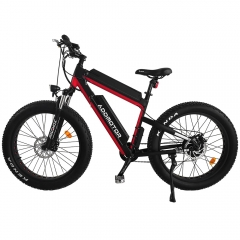 MOTAN M-B2 750W Dual Batteries Front Suspension 26 Inch Fat Electric Bike for Long Range